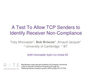 A Test To Allow TCP Senders to Identify Receiver Non-Compliance