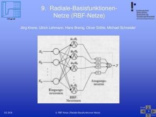 9.  Radiale-Basisfunktionen-Netze (RBF-Netze)
