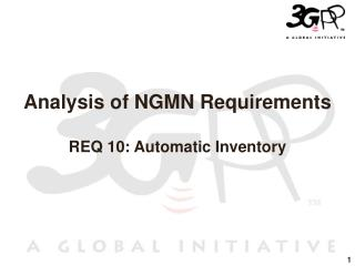 Analysis of NGMN Requirements REQ 10: Automatic Inventory