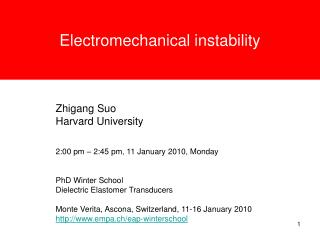 Electromechanical instability