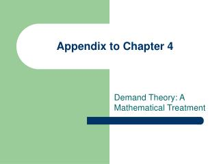 Appendix to Chapter 4