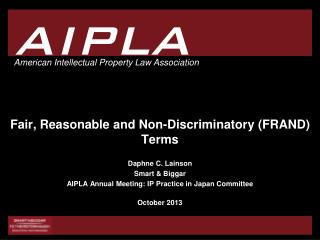 Fair, Reasonable and Non-Discriminatory (FRAND) Terms