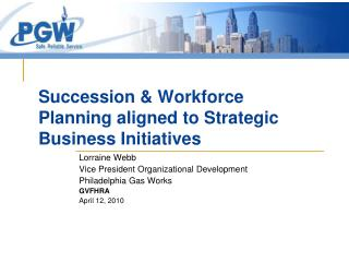 Succession & Workforce Planning aligned to Strategic Business Initiatives