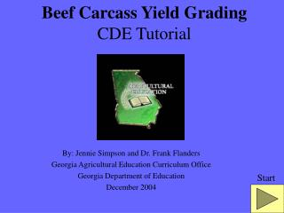 Beef Carcass Yield Grading CDE Tutorial