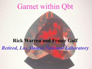 Garnet within Qbt
