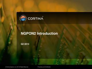 NGPON2 Introduction