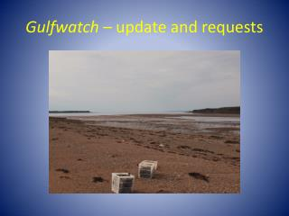 Gulfwatch  � update and requests