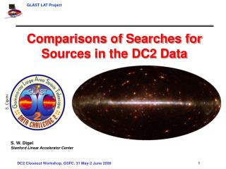 Comparisons of Searches for Sources in the DC2 Data S. W. Digel Stanford Linear Accelerator Center