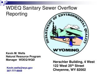 WDEQ Sanitary Sewer Overflow Reporting