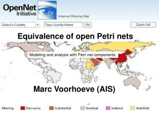 Equivalence of open Petri nets