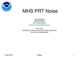 MHS PRT Noise