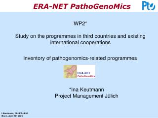 WP2* Study on the programmes in third countries and existing international cooperations