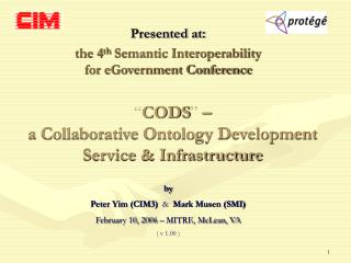 """ CODS ""  –  a Collaborative Ontology Development  Service & Infrastructure"
