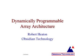 Dynamically Programmable Array Architecture