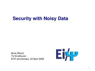 Security with Noisy Data