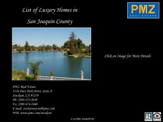 List of Luxury Homes in  San Joaquin County