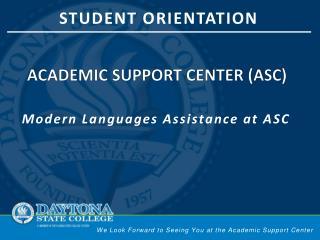 Academic support center (ASC)