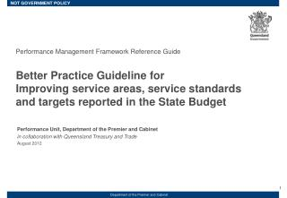 Performance Management Framework Reference Guide Better Practice Guideline for