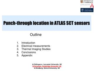 Punch-through location in ATLAS SCT sensors