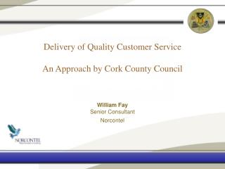 Delivery of Quality Customer Service An Approach by Cork County Council