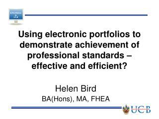 Helen Bird BA(Hons), MA, FHEA