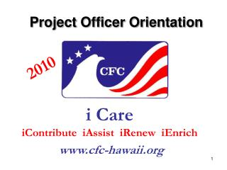 Project Officer Orientation