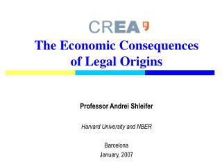 The Economic Consequences of Legal Origins