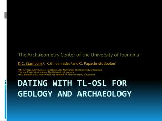 Dating with TL-OSL for Geology and Archaeology