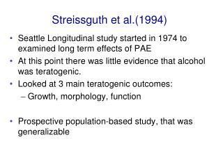 Streissguth et al.(1994)