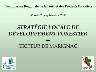 STRATÉGIE LOCALE DE DÉVELOPPEMENT FORESTIER -- SECTEUR DE MARIGNAC
