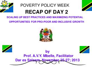 POVERTY POLICY WEEK 	RECAP OF DAY 2