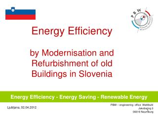 Energy Efficiency - Energy Saving - Renewable Energy
