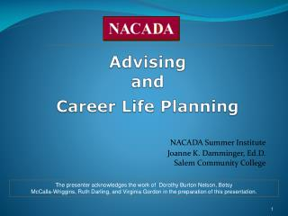 Advising  and Career Life Planning