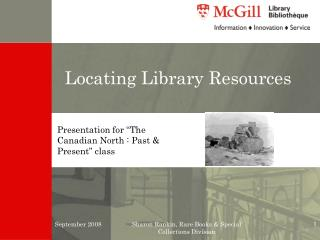 Locating Library Resources