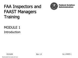 FAA Inspectors and FAAST Managers Training