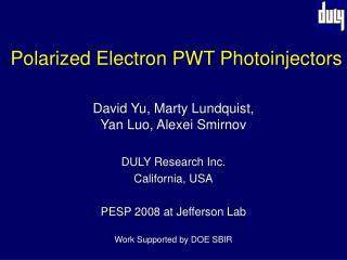 Polarized Electron PWT Photoinjectors