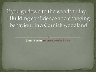 Jane Acton  nature workshops