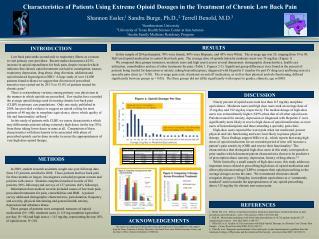 Shannon Essler, 1  Sandra Burge, Ph.D., 2  Terrell Benold, M.D. 3 1 Southwestern University