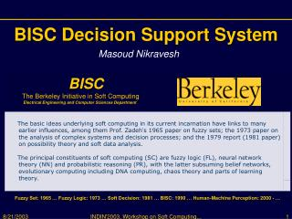 BISC Decision Support System