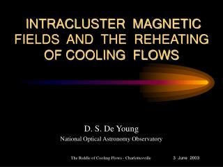 INTRACLUSTER  MAGNETIC  FIELDS  AND  THE  REHEATING  OF COOLING  FLOWS
