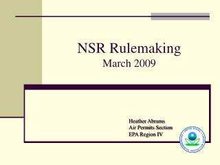 NSR Rulemaking March 2009