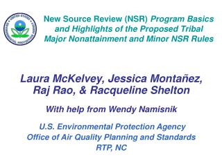 Laura McKelvey, Jessica Montañez, Raj Rao, & Racqueline Shelton With help from Wendy Namisnik