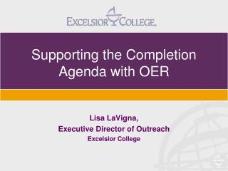 Supporting the Completion Agenda with OER