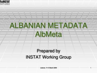 ALBANIAN METADATA AlbMeta