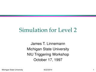 Simulation for Level 2