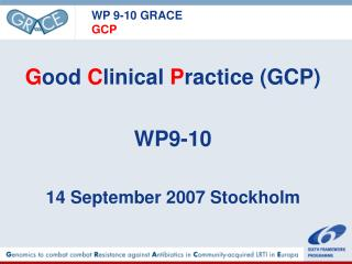 WP 9-10 GRACE GCP