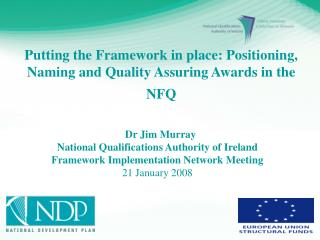 Dr  Jim Murray National Qualifications Authority of Ireland
