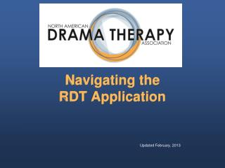 Navigating the  RDT Application