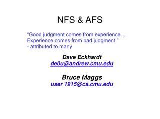 NFS & AFS