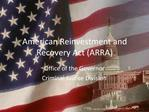 American Reinvestment and Recovery Act ARRA